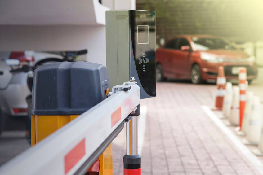 vehicle security barrier systems using an automated key fob