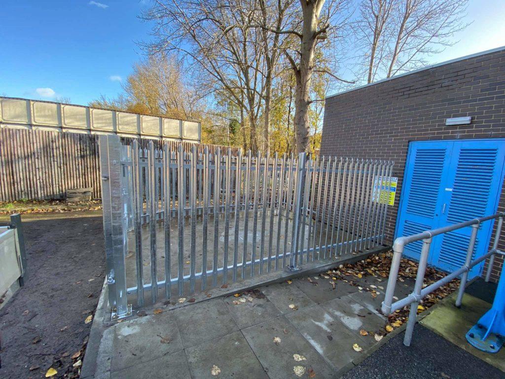 metal palisade security fencing