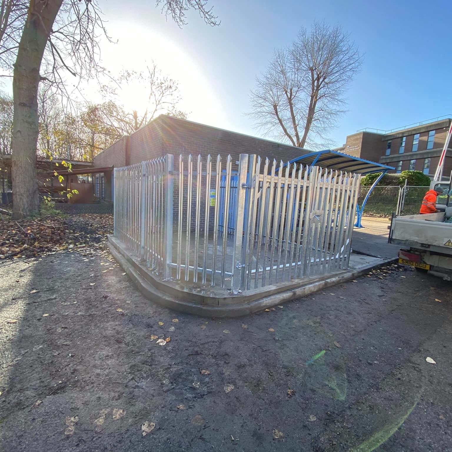 palisade security fencing for hospitals